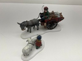 """Dept 56 Heritage Chris Village Collection """"Bringing fleeces to the mill""""... - $19.75"""