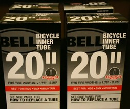 """Bell Bicycle 20"""" Inner Tube Fits Tire Widths 1.75""""-2.25"""" Standard (4 pa... - $23.75"""