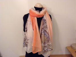 MAD fashion New scarf  Pastels Floral and High Heel Shoe Pattern choice of color image 13