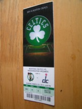 NBA Boston Celtics Full Unused Ticket Stub 3/25/12 Vs. Washington Wizzards - $1.99