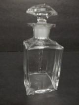 BACCARAT Signed Perfume Bottle Crystal Glass Spiral Stopper Antique Vint... - $129.95
