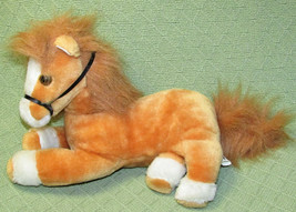 "11"" Sugar Loaf 1994 HORSE Plush Stuffed Animal Golden Tan Black Bridle Fluffy  - $20.57"