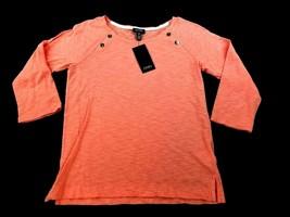new JONES NEW YORK women shirt top JMMM1K6915 Spring 2018 salmon S MSRP ... - $17.99