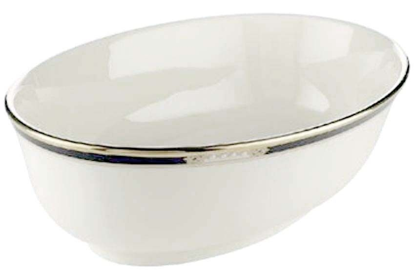 Lenox Hancock Platinum Banded Open Oval Vegetable Bowl New In Box