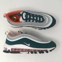 Nike Size 5Y Air Max 97 Rainforest White Orange Miami Hurricanes Shoe 92... - $123.75