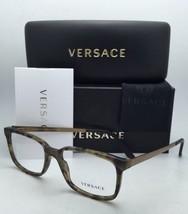 New VERSACE Rx-able Eyeglasses VE 3182 5078 55-17 Dark Green Havana Sand... - $299.95