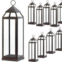 "Lot 10 Bronze 25"" Tall Lantern Extra Large Candleholder Wedding Centerpi... - $385.11"
