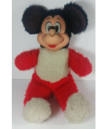 Vintage Mickey Mouse Plush 13in Disney Productions Stuffed Animal Rubber... - $59.99