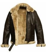 Men's RAF Aviator Real Leather Jacket Coat Bomber B3 Sheep Skin Pilot Fl... - $129.99