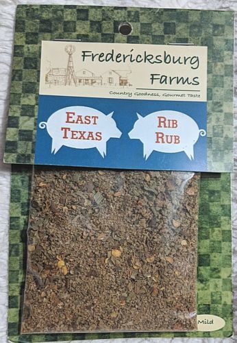 Fredericksburg Farms All Natural And Gluten Free Mild East Texas Rib Rub