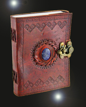Haunted journal 50X SCHOLAR ENHANCED WISH MAGNIFIER MAGICK LEATHER WITCH... - $40.00