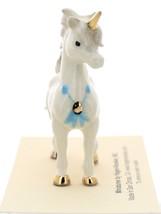 Hagen-Renaker Miniature Ceramic Unicorn Figurine Papa and Baby with Flowers Set image 8
