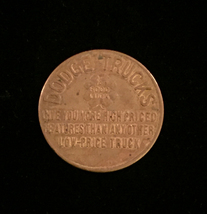 Vintage Dodge Trucks Good Luck/Dependability - Brass Token
