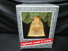 "Hallmark Keepsake ""Holiday Bell"" 1989 Lighted Lead Crystal Ornament NEW - $5.64"