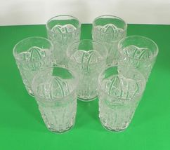 Imperial Vintage Glass DAISY AND BUTTON Water Pitcher Set with 7 Tumbler (s) image 8