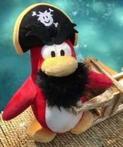 "Tag Attachd Disney Store CLUB Captain PENGUIN 9"" Plush TOY Pirate Stuffed Animal - $14.66"