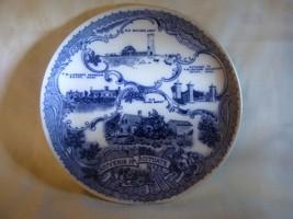 1901-1913 SCITUATE MASS Souvenir Plate Frank Beardmore Flow Blue Staffordshire - $45.00