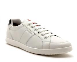 Prada Baskets Cuir Blanc Taille 12 Neuf - $307.72