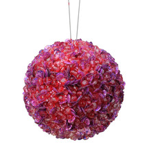 "Lavish Lilac Fully Sequined & Beaded Christmas Ball Ornament 3.5""- tkcc ... - $21.95"