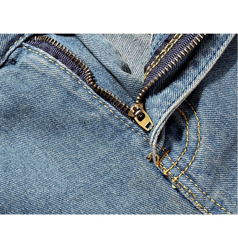 High quality men's jeans Casual  hole jeans men balmai jeans men denim trousers