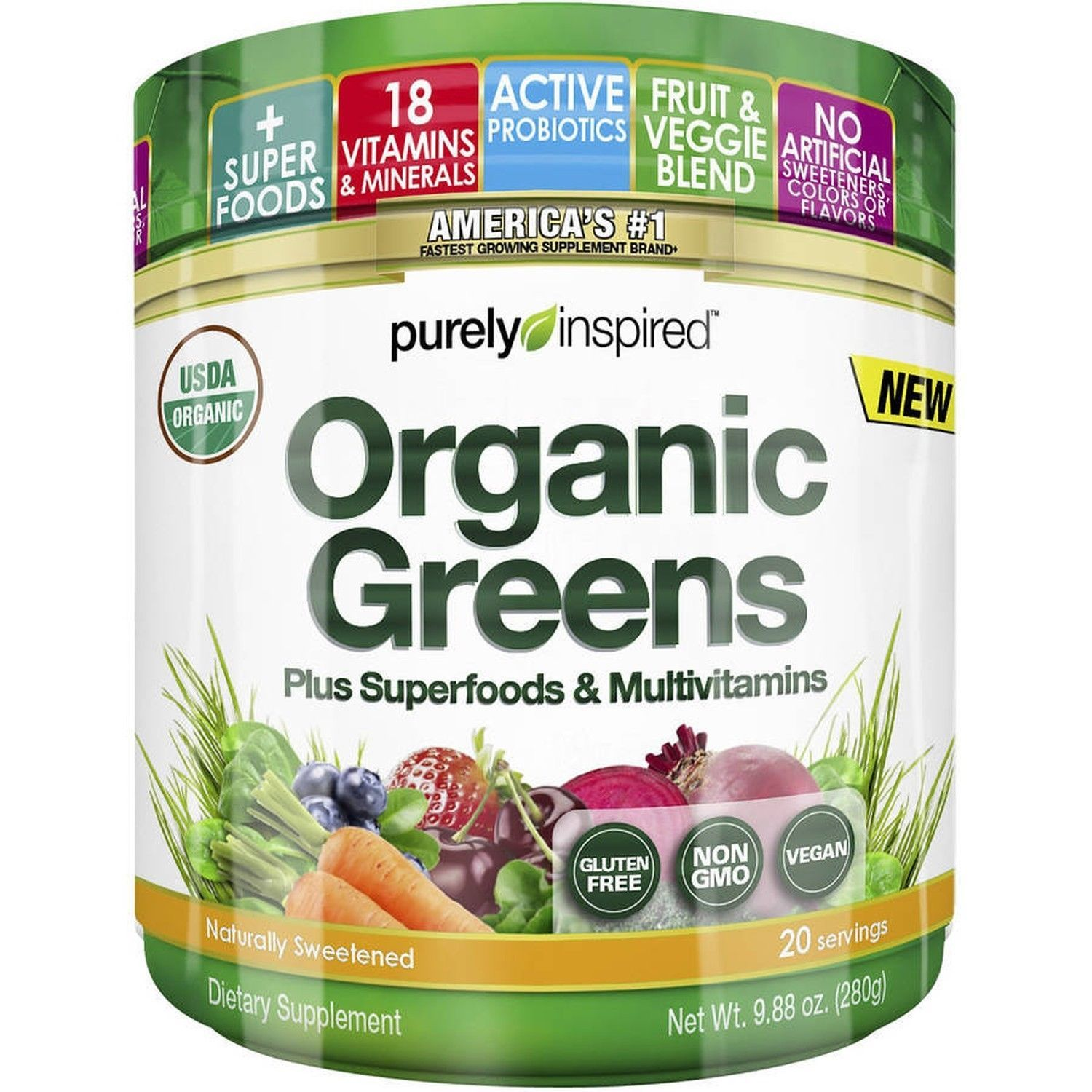 Purely Inspired Organic Greens Superfoods And 50 Similar Items