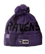 Baltimore Ravens NFL New Era Adult Beanie Hat NWT Removable Pom - $14.00