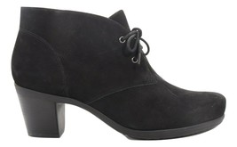 Abeo Elegand Dress Lace Up Bootie  Nubuck Black  Size 8 () 5366 - $130.00
