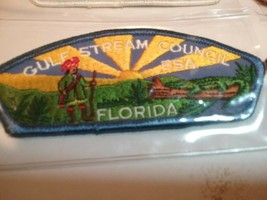 BOY SCOUTS GULF STREAM COUNCIL FLORIDA COUNCIL SHOULDER PATCH NEW - $3.70