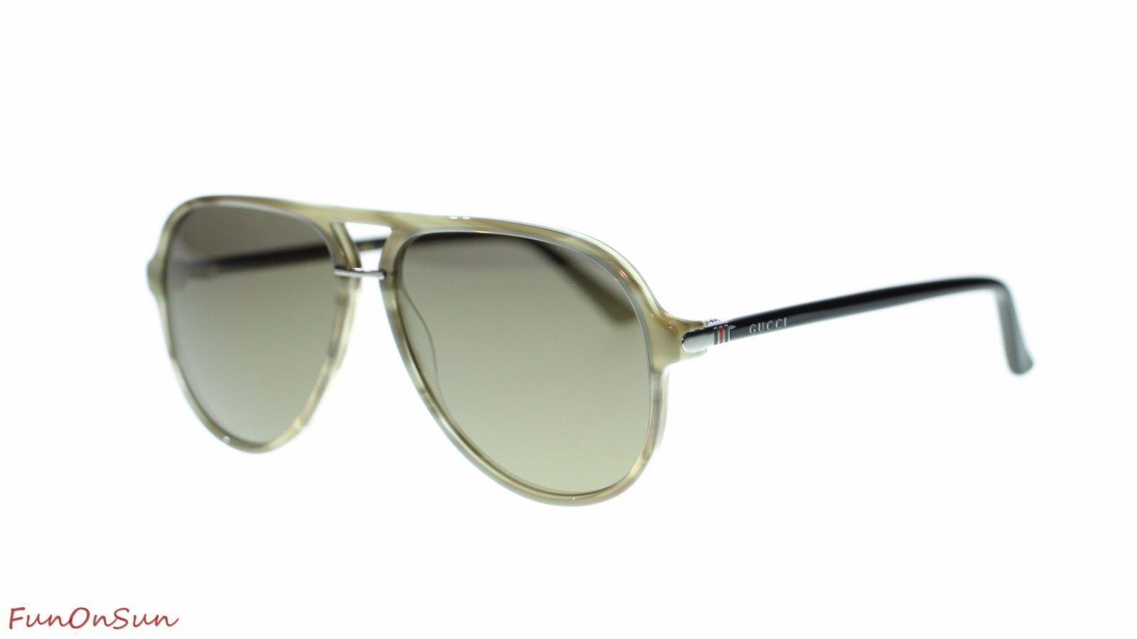 ed767be87f S l1600. S l1600. Previous. NEW Gucci Men Pilot Sunglasses GG0015 004 Havana  Black Bronze Flash Lens 58mm