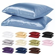 2pc New Queen/Standard Size Or King Size Silk~y Satin Pillow Case Multip... - $9.88