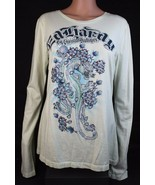 Ed Hardy By christian Audigier women's top t-shirt long sleeve sequined ... - $19.97