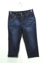 London Jean Women's Dark Blue Wash Cropped Cuffed Capri Jeans - 6 - $14.99