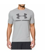 Under Armour Men's Sportstyle Logo T-Shirt True Gray Heather Logo Size M - $29.99
