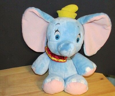 Disney Babies Dumbo blue elephant VERY Soft Plush baby toy 11.5-14""