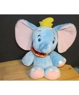 """Disney Babies Dumbo blue elephant VERY Soft Plush baby toy 11.5-14"""" - $10.68"""