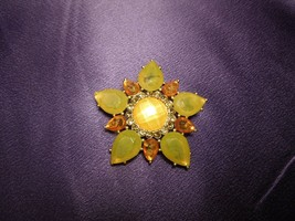 Modern Star Sun Flower Pin Brooch by Villager a Liz Claiborne Company - $29.70