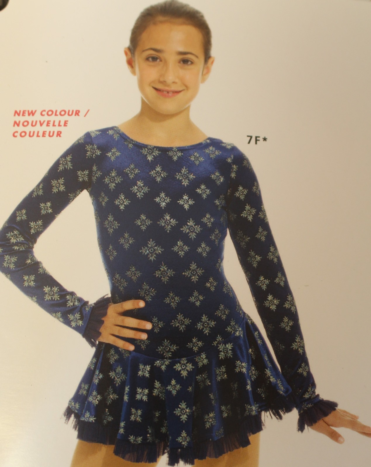 Primary image for Mondor Model 2739 Born to Skate Skating Dress - Blue Snowflakes Size Child 4-6