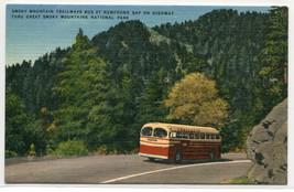 Trailways Bus New Found Gap Smoky Mountains National Park NC postcard - $5.94