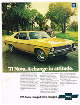 Vintage 1971 Magazine Ad Chevrolet Nova Dependable Good Looking Low Pric... - $5.93