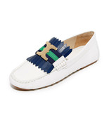 Tory Burch White Fringe GEMINI Driving Loafers Flats  Moccasins Ballet S... - $139.00