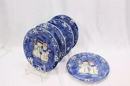 "Tabletops Snow Couple Xmas Dinner Plates 10.25"" Set of 5 - $51.93"