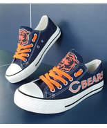 bears shoes bears sneakers womens converse style chicago tennis shoe cus... - $55.99