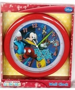 New in pack, Mickey Mouse ClubHouse 9 inches round Wall Clock as pictured - $13.86