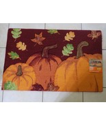 "Kohl's Halloween / Fall Accent Rug Pumpkins  20 x 30"" Non-Skid Latex Back  NO. 2 - $9.77"