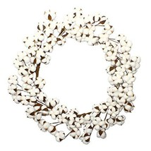 VGIA 28 Inch Real Cotton Wreath Farmhouse Decor Christmas Vintage Wreath - $48.83