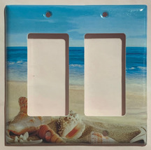Ocean beach Seashell Light Switch Power Outlet wall Cover Plate Home Decor image 5