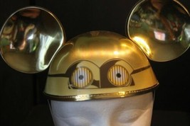 NWT Walt Disney Parks C3PO Mickey Mouse Ears Hat Movies Star Wars Costume Robot - $30.63