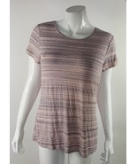Apt. 9 Essentials Womens Small Pink Gray Soft Rayon Blend Flowy Blouse NWOT - $14.01