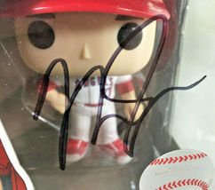 MIKE TROUT / AUTOGRAPHED L. A. ANGELS LOGO MLB FUNKO POP VINYL FIGURINE / COA image 2