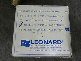 """LEONARD MIXING VALVE MODEL 370  3/4"""" INLETS AND OUTLET New image 2"""